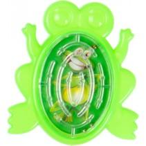 geduldspelletje doolhof kikker 5 cm groen