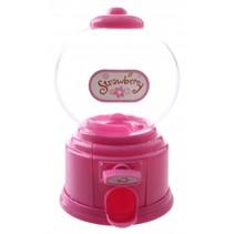 kauwgomballen automaat 15 cm roze