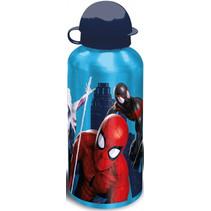 schoolbeker Spider-Man 500 ml aluminium blauw