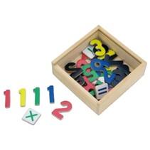 houten cijfers met magneet 37 stuks