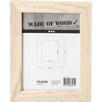 houten fotolijst rechthoek 21 x 16 cm
