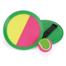 vangspel junior 18 cm klittenband roze/geel/groen 3-delig