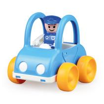 politieauto My First Racers junior 11 x 13 cm blauw/geel