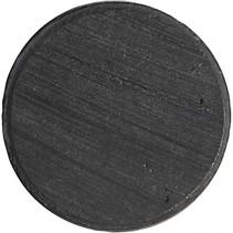 magnetische schijven 20 mm zwart 3 mm 50 stuks