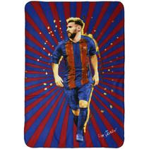 fleecedeken Lionel Messi 100 x 140 cm blauw/rood