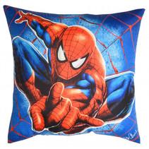kussen Spiderman 40 x 40 cm polyester blauw/rood