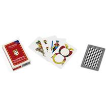 speelkaarten Napoletane 82 mm PVC rood 40-delig