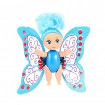 baby fee met beweegbare vleugels blauw