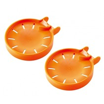 knikker opvangbak 2 stuks oranje