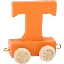 treinletter T oranje 6,5 cm