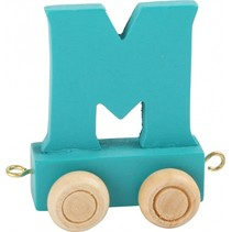 treinletter M blauw 6,5 cm