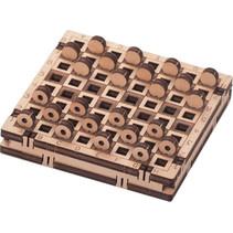 modelbouwset Dammen 21,6 x 7,5 cm hout 30-delig