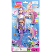 pop zeemeermin meisjes paars 4-delig