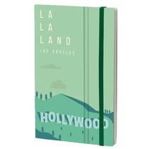 notitieboek Los Angeles 13 x 21 cm papier groen