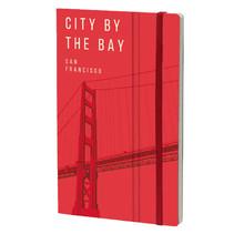 notitieboek San Francisco 13 x 21 cm papier rood