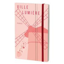 notitieboek Paris 13 x 21 cm papier roze