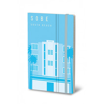 notitieboek South Beach 13 x 21 cm papier blauw