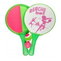 beachballset en vangspel 2-in-1 groen/roze