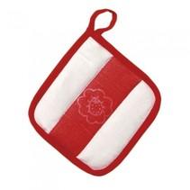 ovendoek rood/wit 15 cm