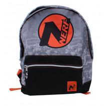 rugzak NERF junior 12 liter polyester grijs/zwart/oranje