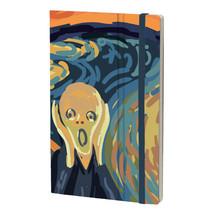 notitieboek Edvard Munch 13 x 21 cm papier groen