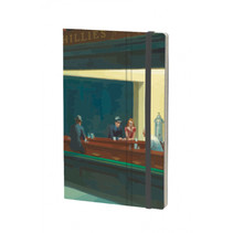 notitieboek Edward Hopper 13 x 21 cm papier groen