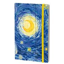 notitieboek van Gogh 13 x 21 cm papier blauw
