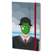notitieboek Magritte 13 x 21 cm papier grijs
