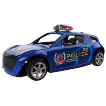 politieauto blauw 15 cm