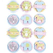 3D stickers baby 35 x 5 mm 12 stuks