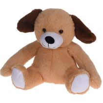 knuffeldier hond junior 20 x 22 cm pluche bruin
