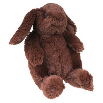 knuffelbeer Dennis junior 28 cm pluche bruin/rood