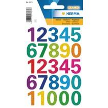 stickers cijfers glitter 25 stuks multicolor