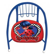 metalen stoel Ladybug 36 x 35 x 36 cm blauw/rood