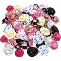 mini hoeden multicolor 4 cm 100 stuks