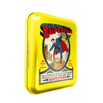 speelkaarten Superman 10 x 8 cm staal/karton 56-delig