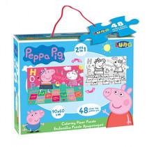 vloerpuzzel 2-in-1 Peppa Pig junior 90 x 60 cm 48-delig