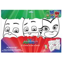 posterset PJ Masks junior 31 x 42,5 cm papier 12-delig