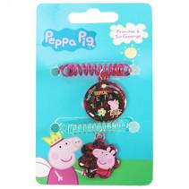 haarelastiekjes Peppa Pig meisjes rood/groen 2 stuks