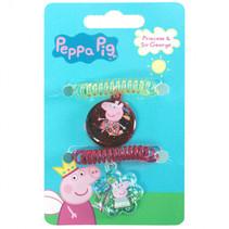 haarelastiekjes Peppa Pig meisjes rood/geel 2 stuks