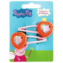 haarclipjes Peppa Pig meisjes oranje/roze 2 stuks