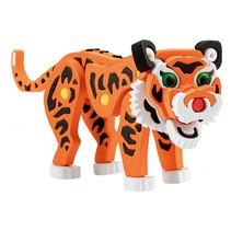 3D puzzel tijger junior 31,5 cm foam oranje 121 delig