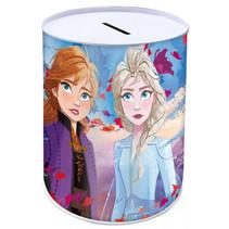 spaarpot Frozen II meisjes 10 x 15 cm staal blauw/paars