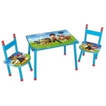 tafel met 2 stoelen Paw Patrol blauw/rood