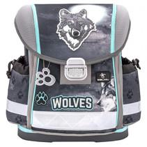 rugzak wolf junior 19 liter polyester grijs/blauw