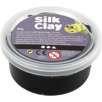 klei zwart 40 gram (79102)