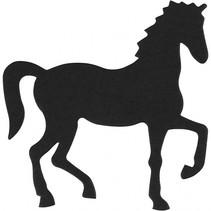 silhouette paard zwart 60 x 64 mm 10 stuks