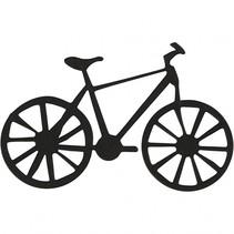silhouette fiets zwart 77 x 48 mm 10 stuks