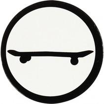 silhouette skateboard zwart/wit 25 mm 20 stuks