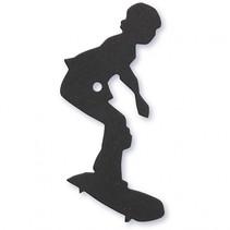 silhouette skater zwart 56 x 67 mm 10 stuks